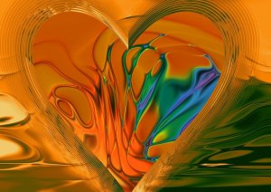Art from the Heart, Abstract Art, Abstract Heart