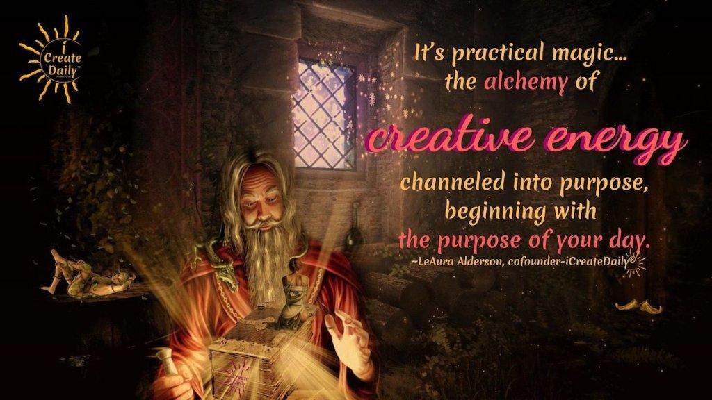 Manifestation Through Creation - the Creator's Advantage. #CreateYourDay #iCreateDaily #alchemy #magic Purpose #PersonalDevelopmentQuote #Creativity #Manifestation