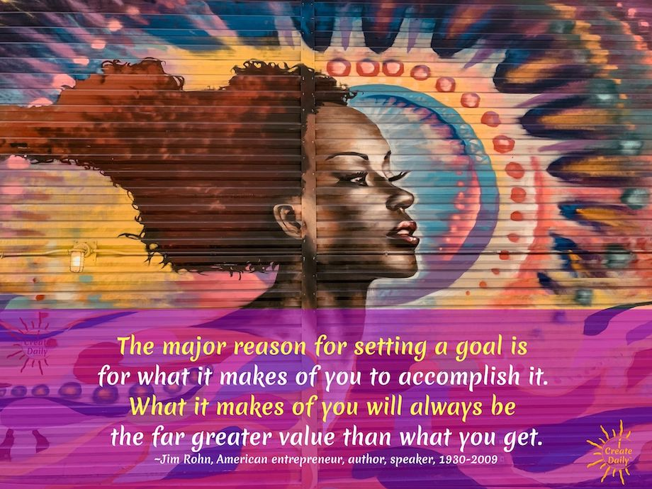 JIM ROHN QUOTE: The reason for setting a goal #JimRohnQuote #Goals #GoalSetting  #iCreateDaily