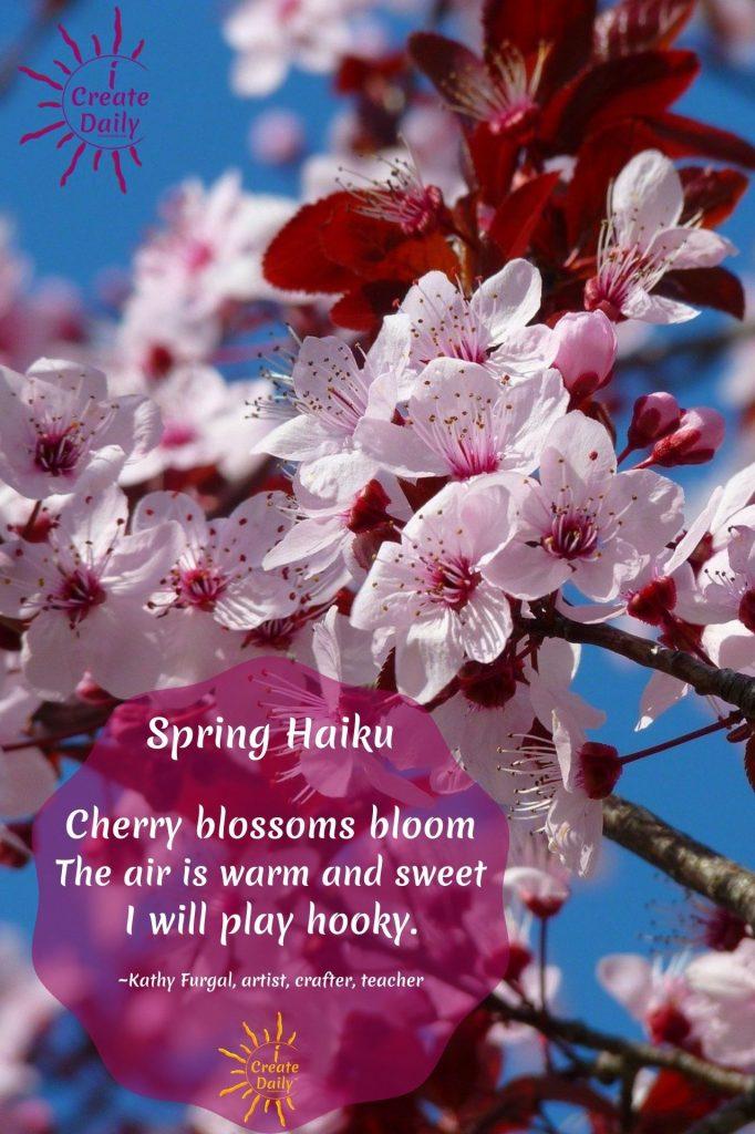 SPRING HAIKU, CHERRY BLOSSOM HAIKU, Cherry #SpringHaikuPoem #SpringHaiku #HaikuPoem #SpringPoems #Poetry #HaikuPoetry #iCreateDaily #CrocusPoem