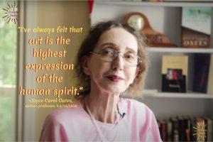 Art is the highest expression of the human spirit-Joyce Carol Oates Quotekk
