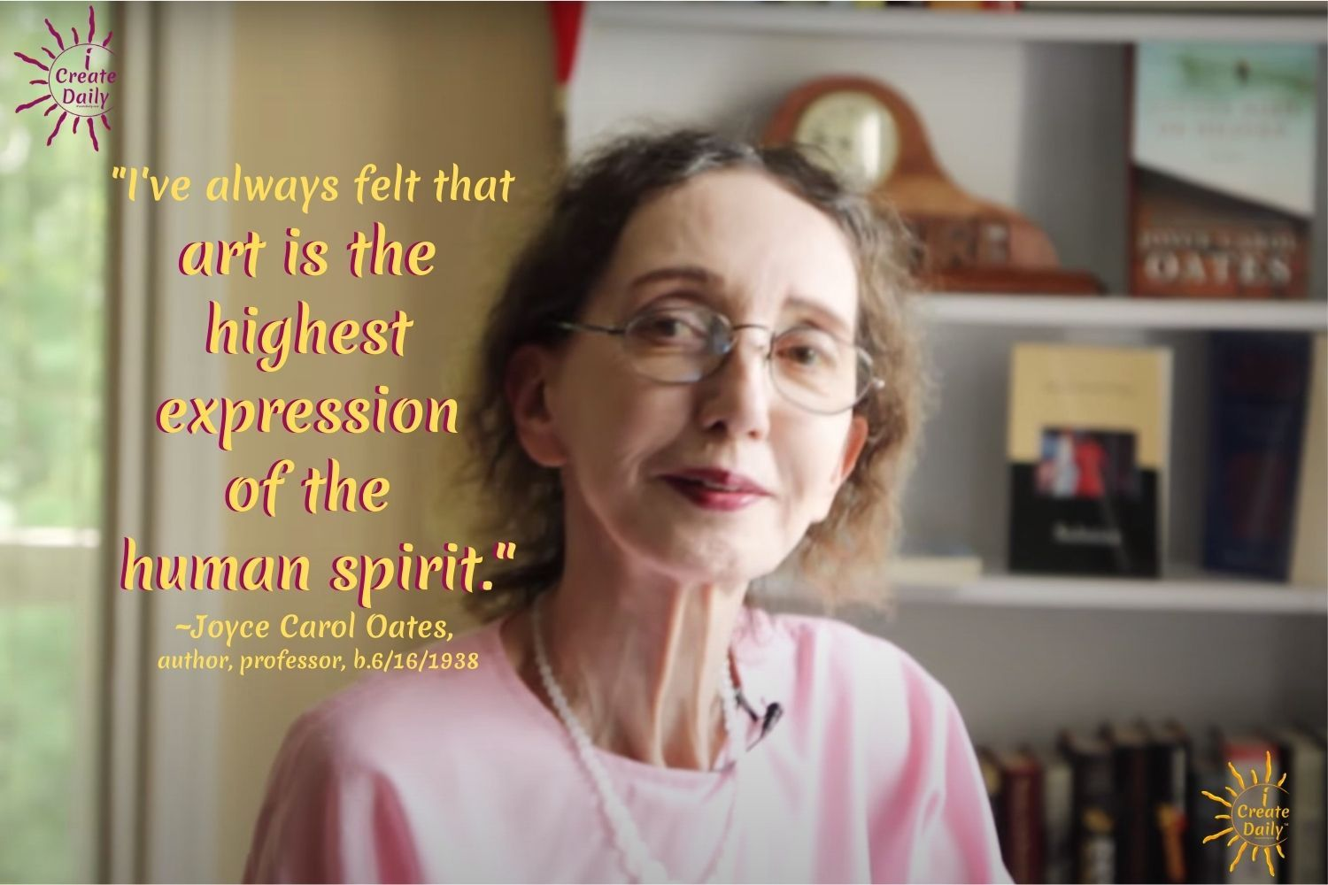Art is the highest expression of the human spirit-Joyce Carol Oates Quotekk