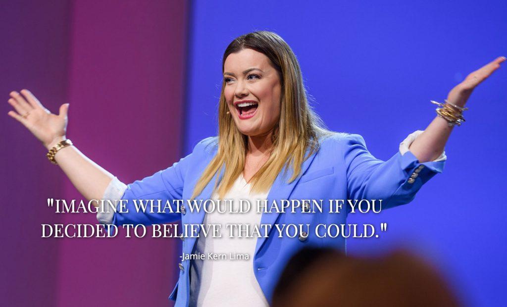 JAMIE KERN LIMA QUOTE - Image credit JamieKernLima.com #ImagineQuote #Belief #Believe #BelieveQuote #Possibility #iCreateDaily