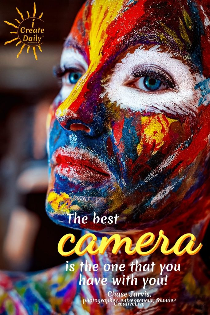 CHASE JARVIS QUOTES - The best camera to use... Quotes for Creators #ChaseJarvisQuotes #CreatorsQuotes #JaseJarvis #PhotographerQuotes #Photographers #BestCamera #iCreateDaily