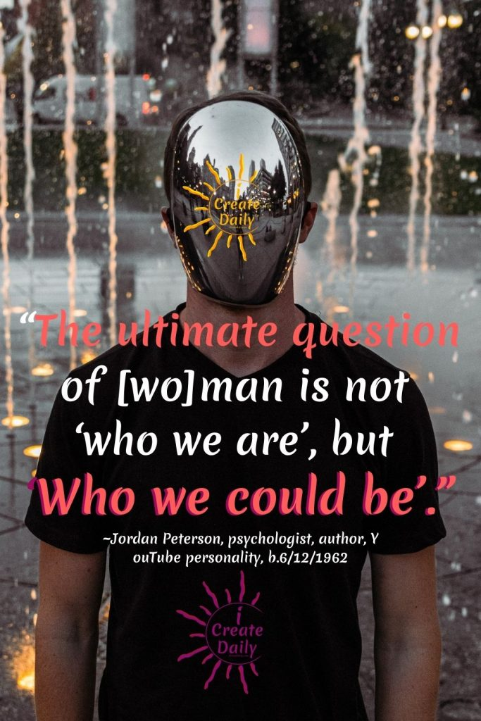 The ultimate question is 'who are we to be?' iCreateDaily.com®