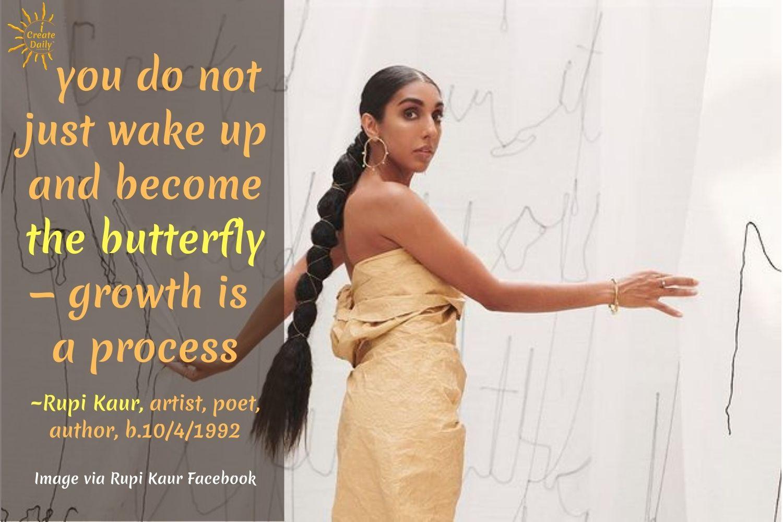 Rupi Kaur Quotes - image via Rupi Kaur Facebook