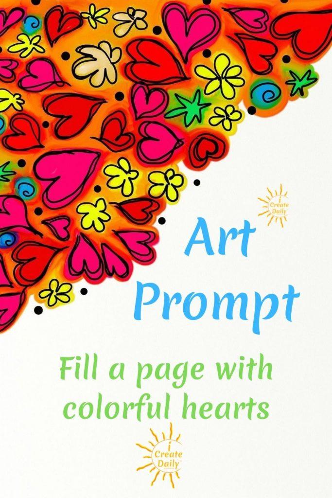 Heart art prompt