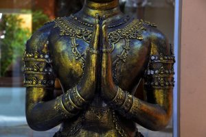 The Wisdom of the Ages-statue of prayer hands-reverence-namaste-icreatedaily