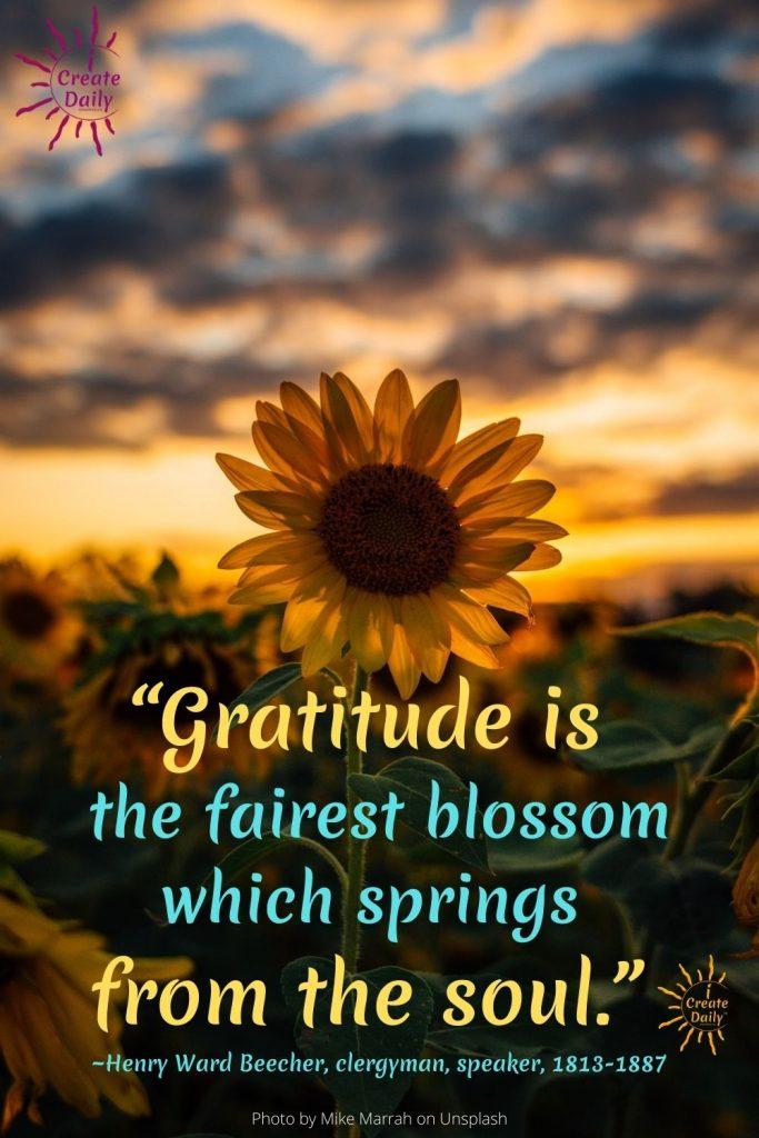 Gratitude-fairest blossom springs soul